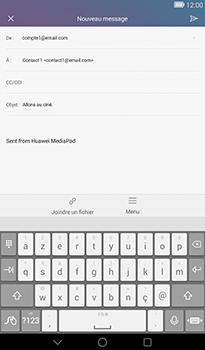Huawei MediaPad T1 (7.0) - E-mail - Envoi d