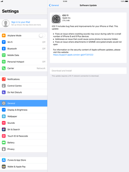 Apple Apple iPad Pro 12.9 - iOS 11 - Network - Installing software updates - Step 6