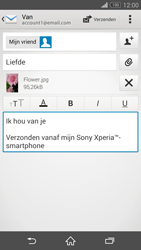 Sony D6603 Xperia Z3 - E-mail - hoe te versturen - Stap 14