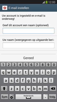 Samsung N9005 Galaxy Note III LTE - E-mail - Account instellen (IMAP zonder SMTP-verificatie) - Stap 18