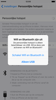 Apple iphone 6s plus met ios 10 mode a1687 - WiFi - Mobiele hotspot instellen - Stap 7