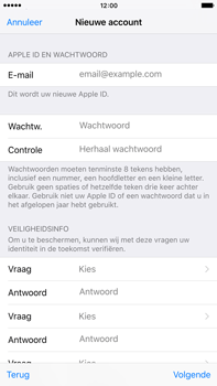 Apple iPhone 6 Plus met iOS 9 (Model A1524) - Applicaties - Account aanmaken - Stap 12