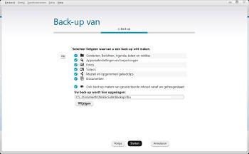 Nokia 216 - Software - Back-up maken of terugplaatsen - Stap 4