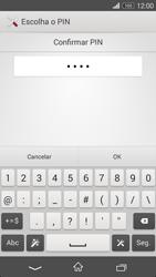 Sony Xperia M2 - Segurança - Como ativar o código de bloqueio do ecrã -  10