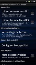 Sony Ericsson Xpéria Arc - Sécuriser votre mobile - Personnaliser le code PIN de votre carte SIM - Étape 5