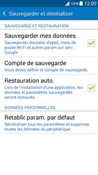 Samsung G530FZ Galaxy Grand Prime - Appareil - Réinitialisation de la configuration d