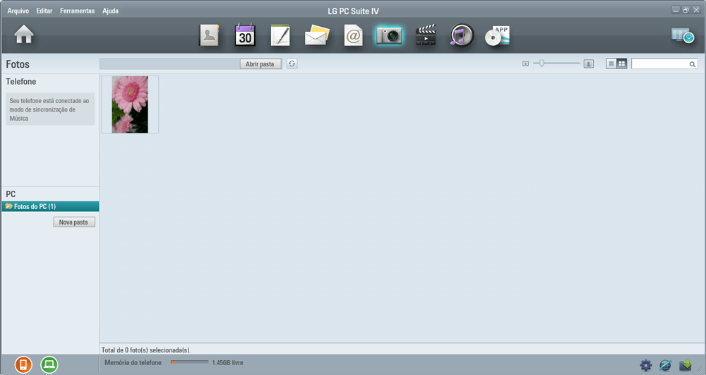 LG K10 - Conexão com pc - Como transferir arquivos do computador para seu aparelho - Etapa 7