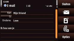 Nokia N97 Mini - E-mail - E-mails verzenden - Stap 10