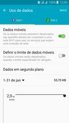 Samsung Galaxy J3 Duos - Rede móvel - Como ativar e desativar uma rede de dados - Etapa 5