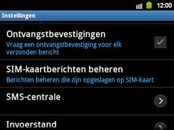 Samsung B5510 Galaxy TXT - SMS - handmatig instellen - Stap 4