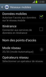Samsung S7390 Galaxy Trend Lite - Réseau - Changer mode réseau - Étape 6