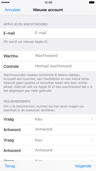 Apple iphone 6 plus met ios 10 model a1524 - Applicaties - Account aanmaken - Stap 12