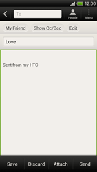 HTC S720e One X - Email - Sending an email message - Step 8