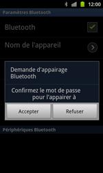 Samsung I8530 Galaxy Beam - Bluetooth - connexion Bluetooth - Étape 10