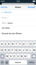 Apple iPhone 5s - iOS 8 - E-mail - envoyer un e-mail - Étape 7