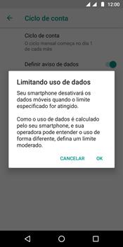 Motorola Moto G6 Play - Rede móvel - Como definir um aviso e limite de uso de dados - Etapa 12