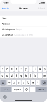 Apple iPhone X - iOS 12 - E-mail - Configuration manuelle - Étape 9