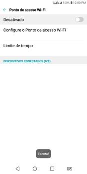 LG K12+ - Wi-Fi - Como usar seu aparelho como um roteador de rede wi-fi - Etapa 8