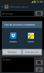 Samsung S7580 Galaxy Trend Plus - Mensajería - Escribir y enviar un mensaje multimedia - Paso 15