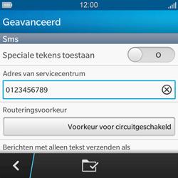 BlackBerry Q5 - SMS - handmatig instellen - Stap 9