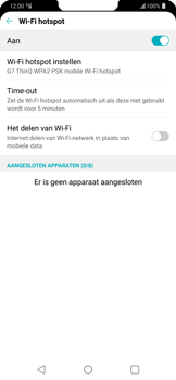 LG g7-thinq-lm-g710em - WiFi - Mobiele hotspot instellen - Stap 10