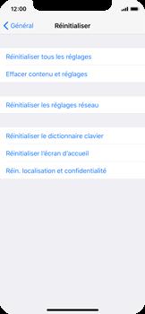 Apple iPhone X - Aller plus loin - Restaurer les paramètres d'usines - Étape 5