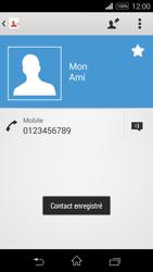 Sony Xpéria E3 - Contact, Appels, SMS/MMS - Ajouter un contact - Étape 10