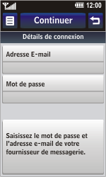 LG GD900 Crystal - E-mail - Configuration manuelle - Étape 9