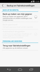 Huawei Ascend P7 - Device maintenance - Terugkeren naar fabrieksinstellingen - Stap 6