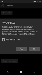 Microsoft Lumia 550 - Device maintenance - How to do a factory reset - Step 8