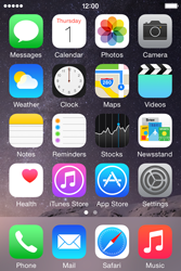 Apple iPhone 4s iOS 8 - MMS - Sending pictures - Step 1