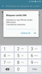 Samsung Galaxy S6 Android M - Segurança - Como ativar o código PIN do cartão de telemóvel -  8
