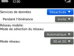 BlackBerry 9300 Curve 3G - Internet - Activer ou désactiver - Étape 5