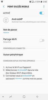 Samsung Galaxy A6 - Internet - comment configurer un point d'accès mobile - Étape 12