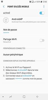 Samsung Galaxy A6 - Internet et connexion - Partager votre connexion en Wi-Fi - Étape 12