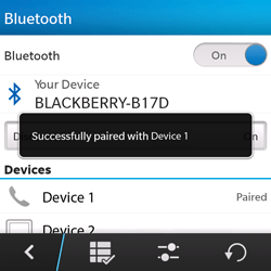 BlackBerry Q5 - Bluetooth - Pair with another device - Step 9