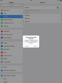 Apple iPad Pro 12.9 (1st gen) - iOS 9 - WiFi et Bluetooth - Jumeler votre téléphone avec un accessoire bluetooth - Étape 6