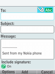 Nokia 301-1 - E-mail - Sending emails - Step 7