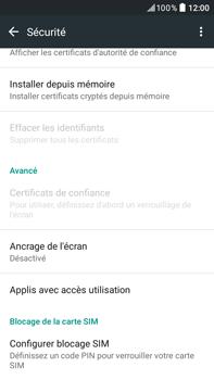HTC Desire 825 - Sécuriser votre mobile - Personnaliser le code PIN de votre carte SIM - Étape 5