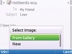 Nokia E5-00 - Mms - Sending a picture message - Step 12