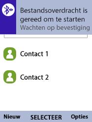 Nokia 8110-ta-1071 - Contacten en data - Contacten overzetten via Bluetooth - Stap 11