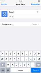 Apple iPhone 6 Plus iOS 8 - Internet - navigation sur Internet - Étape 6