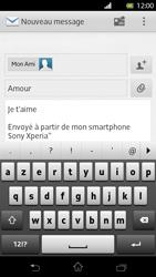 Sony LT30p Xperia T - E-mail - envoyer un e-mail - Étape 9