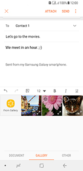 Samsung Galaxy A8 (2018) - E-mail - Sending emails - Step 13