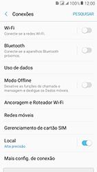 Samsung Galaxy J2 Prime - Rede móvel - Como selecionar o tipo de rede adequada - Etapa 5