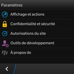BlackBerry Q10 - Internet - configuration manuelle - Étape 17
