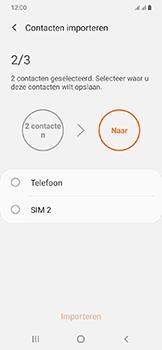 Samsung galaxy-a20e-dual-sim-sm-a202f - Contacten en data - Contacten kopiëren van SIM naar toestel - Stap 11