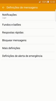 Samsung Galaxy S6 Edge + - SMS - Configurar o centro de mensagens -  6