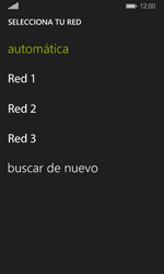 Nokia Lumia 635 - Red - Seleccionar una red - Paso 9