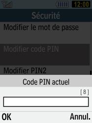 Samsung C3590 - Sécuriser votre mobile - Personnaliser le code PIN de votre carte SIM - Étape 6